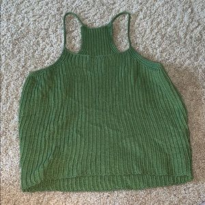 Tops - Knitted Green Crop Top